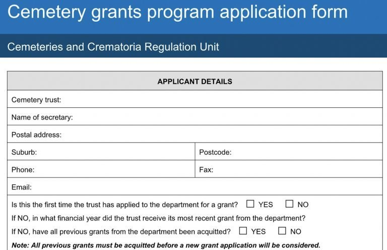 Cemetery Grants Program | Blog | Chronicle