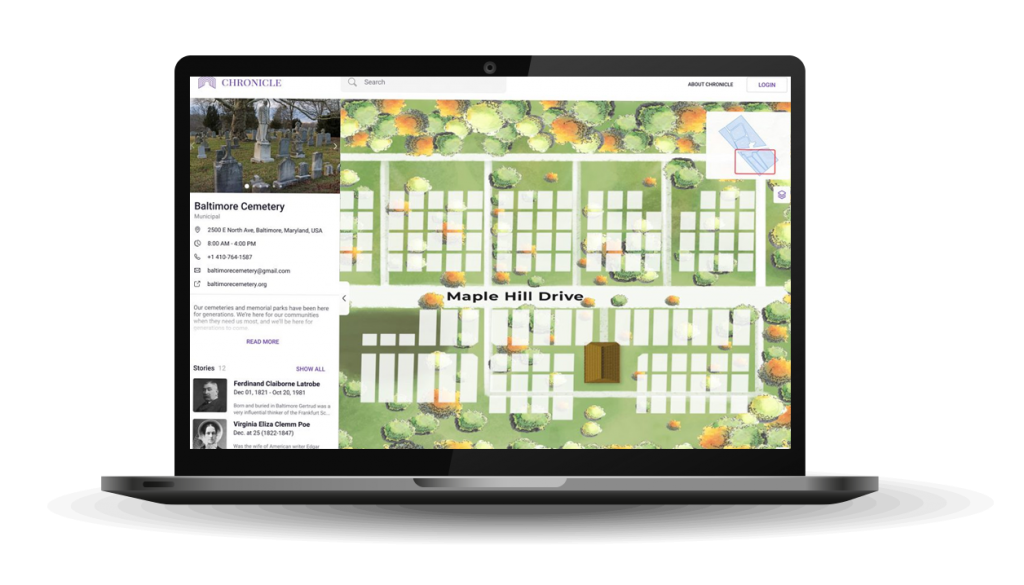 Mapping Software | Cemetery Plots Map | Cemetery Software | Chronicle