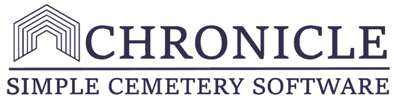 chronicle cemetery software - large logo | chronicle