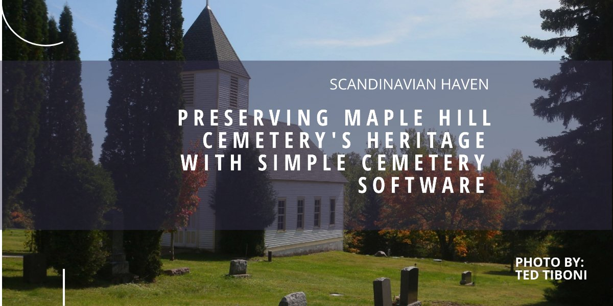 simple cemetery software | maple hill cemetery | chronicle
