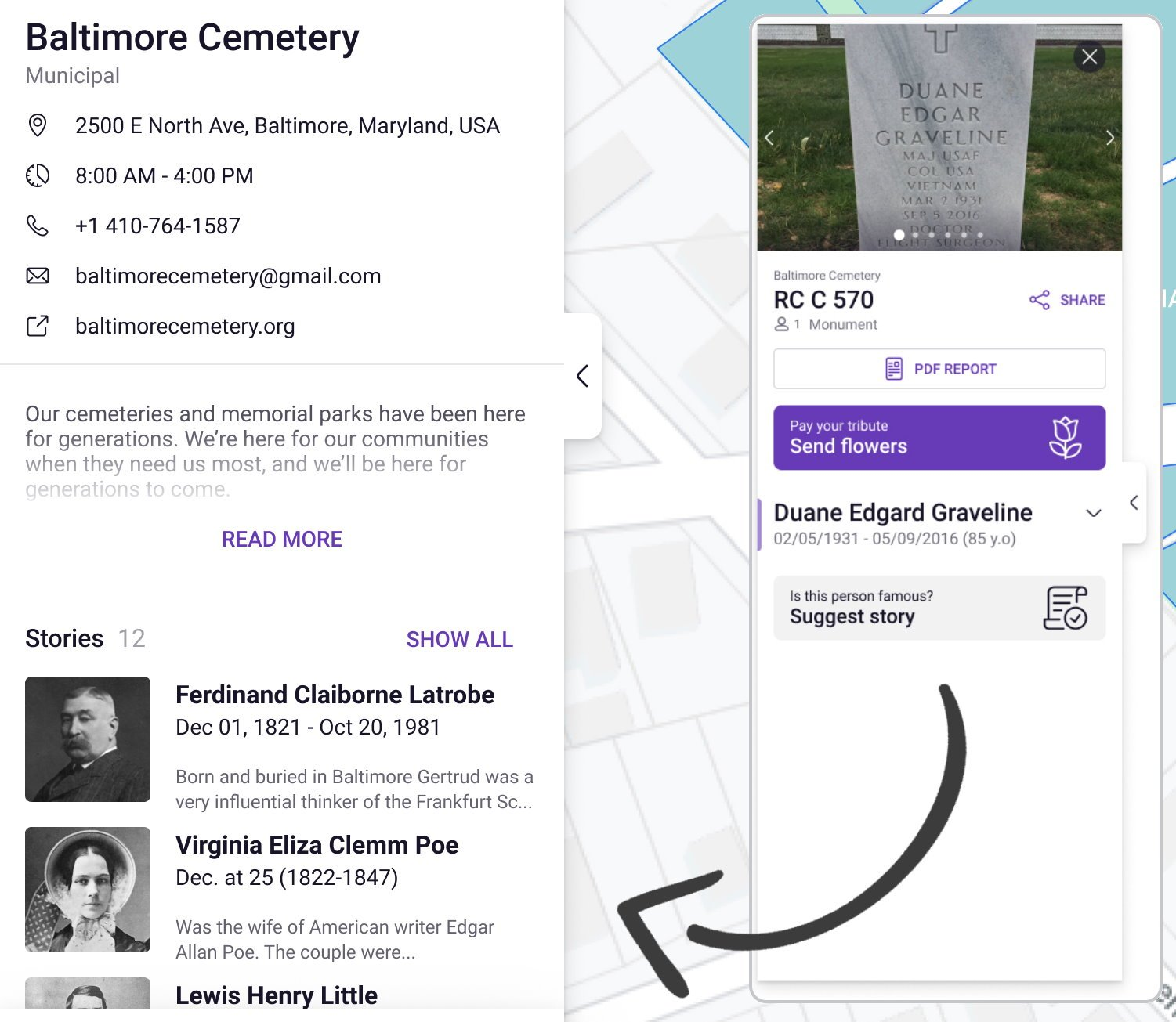 Submit and share stories | Simple Cemetery Management Software | Cemetery Software by Chronicle
