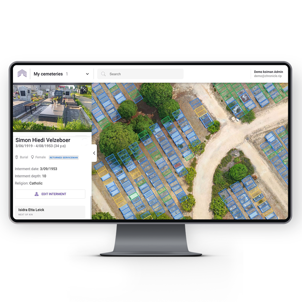 Cemetery Software Desktop | Cemetery Management Software Online | Chronicle